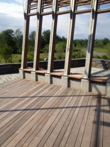 Ipe decking, benches and pergola