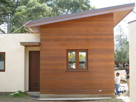 climate-shield rain screen system using ipe hardwood siding