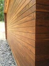climate-shield rain screen wood siding - Ipe hardwood