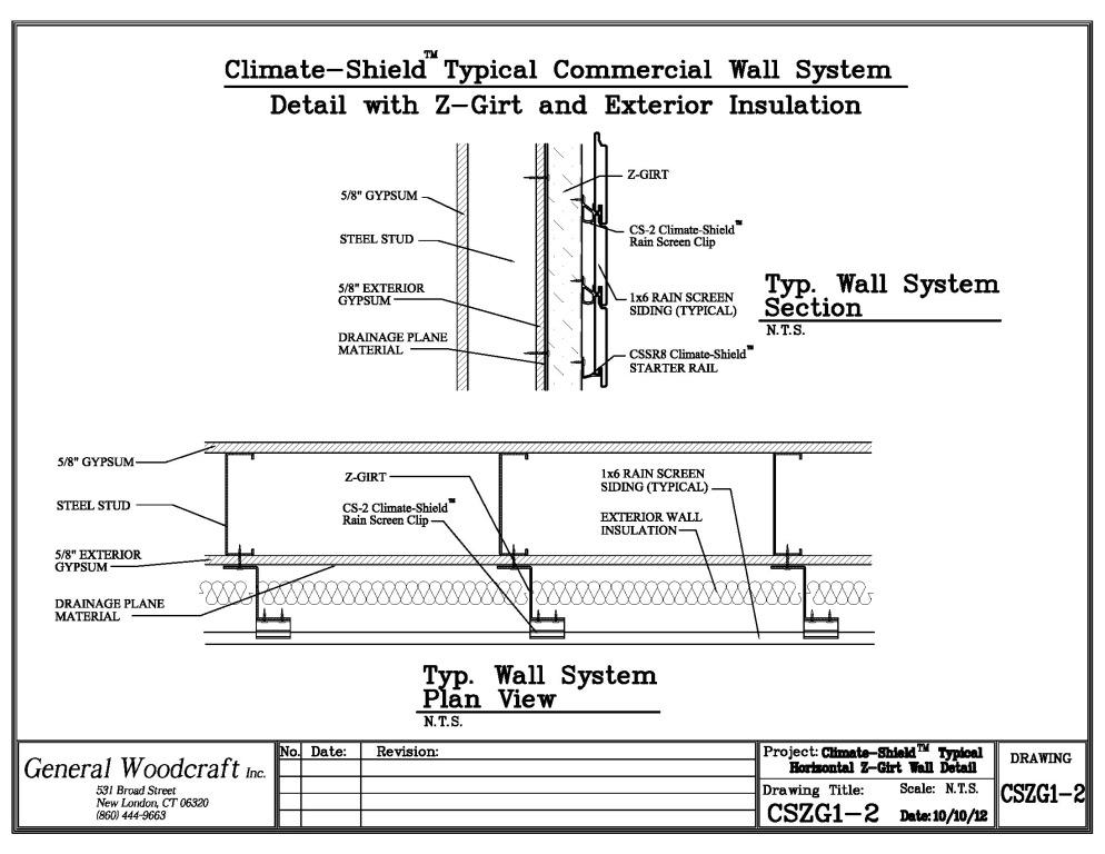 ... Climate Shield Rain Screen Z Girt Architectural Detail