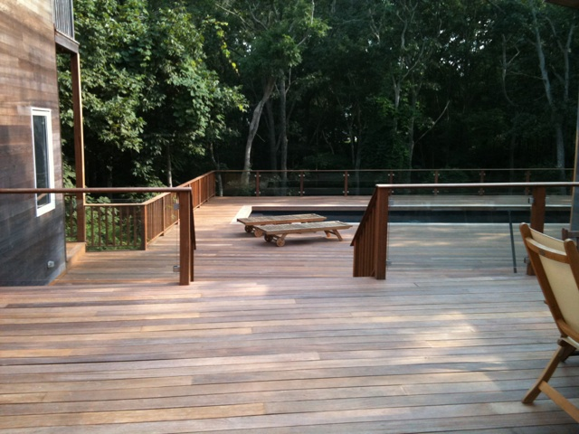 cumaru hardwood deck and pool