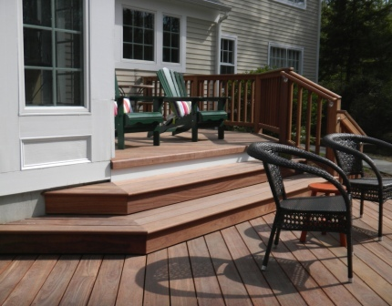 Mataverde Cumaru deck in New York. Compare cumaru decking vs other wood decking.