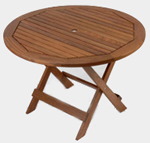Ipe table, ipe folding table, round outdoor table, outdoor furniture