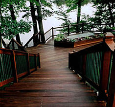 Ipe hardwood deck with Penofin