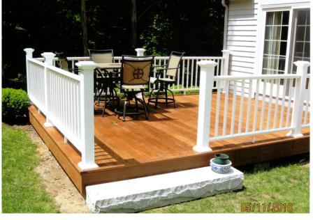Ipe decking with screws creates the strongest deck