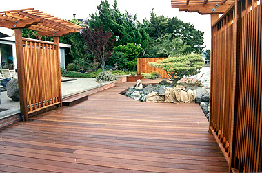 Ipe hardwood deck, dock, steps and pergola