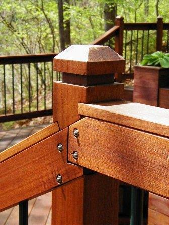ipe deck rail custom ipe rail