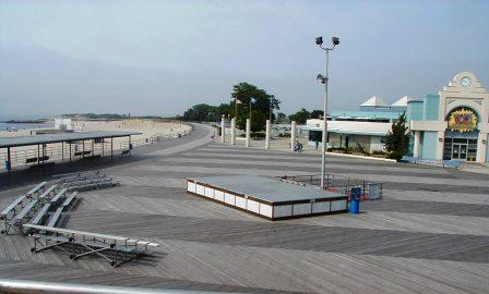 ocean beach park new london uses ipe decking materials