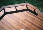 using random lengths of hardwood decking creates a gorgeous deck