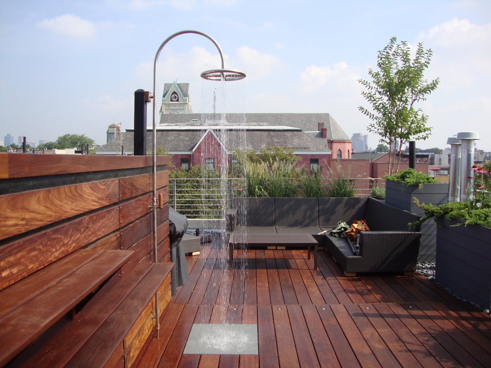 rooftop deck with Ipe hardwood decking