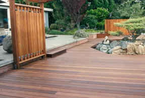 Ipe decking and ipe screen panel
