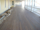 Ipe decking on Ipe veranda, historic ipe decking