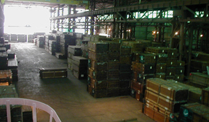 Ipe decking in Mataverde warehouse