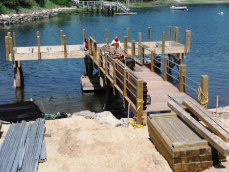 Ipe hardwood deck boards on dock Cape Cod, MA