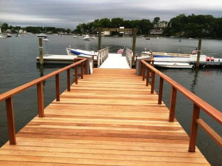 Ipe hardwood dock ramp at Norwalk Yacht Club