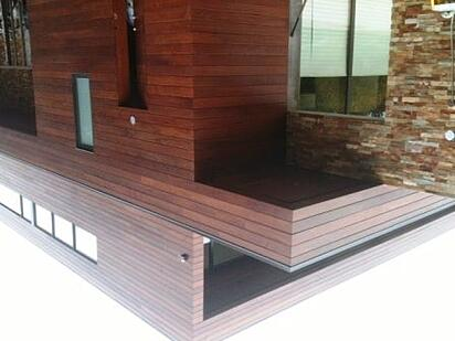 Finish options for decking and siding for Sustainable exterior cladding materials
