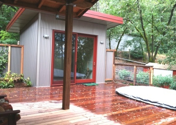 Machiche hardwood deck at pool and cabana