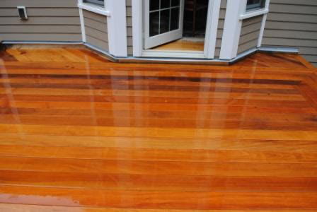 garapa deck using hidden fasteners