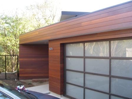Climate-Shield rain screen system garapa hardwood siding