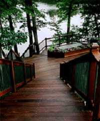 Ipe deck and dock by the shore