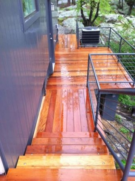 garapa stairs and deck in New York