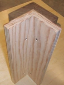 4_Wood_vertical_mitered_outside_corner_attached_to_marine_grade_plywood_-_rear_view