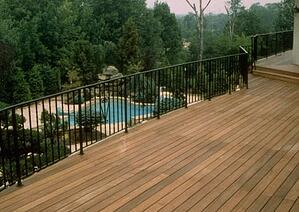 Ipe deck with metal railings