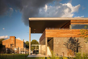 Ipe wood rainscreen at Weeksville Heritage Center in NY