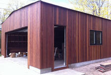 Cumaru hardwood vertical rainscreen installation