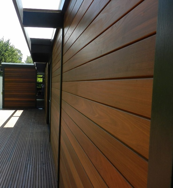 Ipe rain screen siding and decking in California