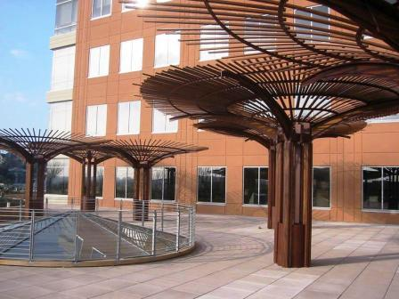 Machiche_wood_in_outdoor_architectural_design_project