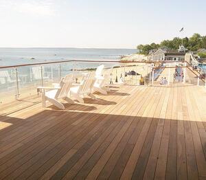 Ipe rooftop deck at beach club