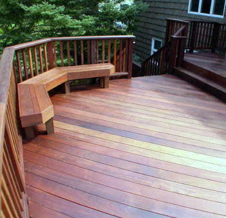 Ipe deck, railing and built-in benches