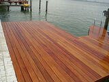 Cumaru hardwood decking on dock