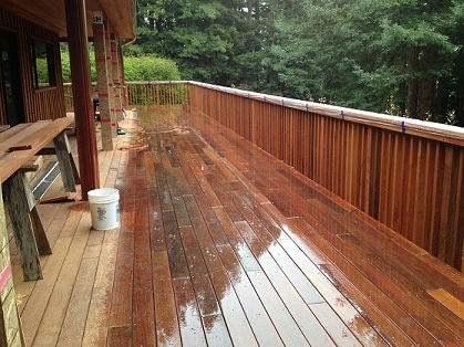 Ipe deck and rails