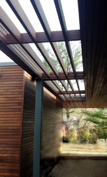 rain screen siding and pergola