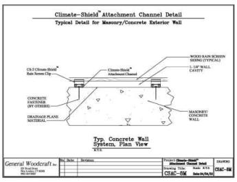 Rain Screen Design Concrete Wall Assembly