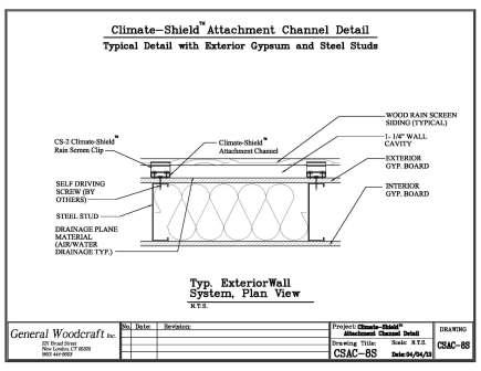 Climate Shield Attachment Channel   Exterior gypsum and steel stud wall assembly resized 600