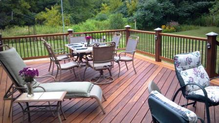 Ipe and Garapa deck is great for dining, relaxing and entertaining