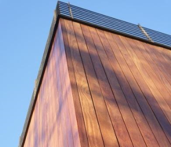 Mataverde Cumaru hardwood rainscreen cladding installation
