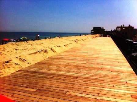 Garapa dock material used in ortley beach boardwalk