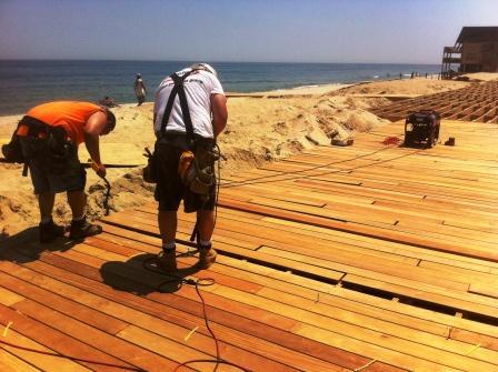 Garapa hardwood decking at Ortley Beach boardwalk, NJ