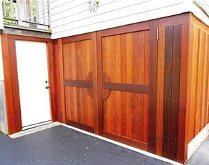 Ipe hardwood doors with Penofin oil finish