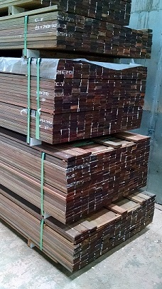 mataverde decking and lumber stacked