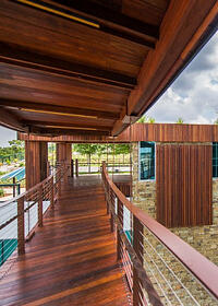 Mataverde FSC Machiche Decking and Rain Screen Treehouse Texas
