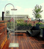 Rooftop deck with shower