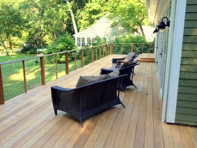 Mataverde garapa hardwood deck in New England