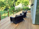 Mataverde garapa hardwood deck in New England