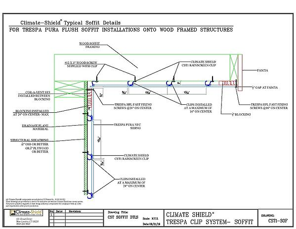 CS T Climate-Shield Trespa  SIDEWALL & SOFFIT detail