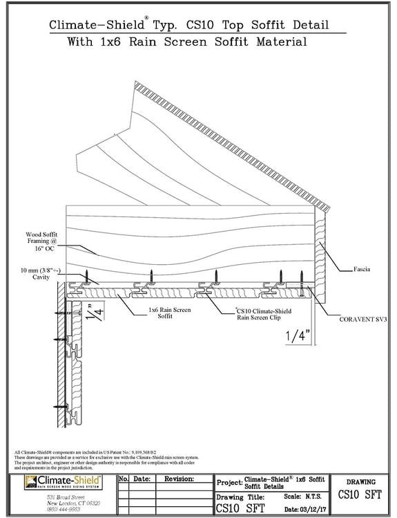 CS10 Rainscreen Soffit Detail